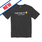"Carhartt Core Logo Short Sleeve T-Shirt Black Large "" Chest"