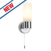 Saxby Pure Bathroom Wall Light Chrome SES 40W