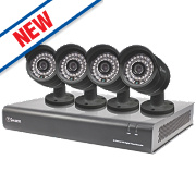 Swann SWDVK-844004 8-Channel 960H CCTV Digital Video Recorder w/ 4 Cameras