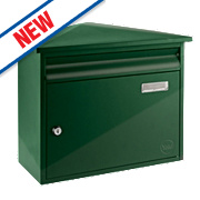 Yale Texas Post Box Green Satin Steel