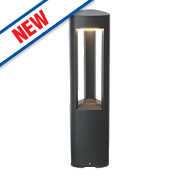 Saxby Tribeca Textured Dark Grey LED Post Light 400Lm 10W