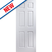 Jeld-Wen Bostonian 6-Panel Interior Door White 2040 x 826mm