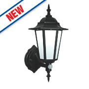 Saxby Evesham 7W Matt Black PIR Lantern 500Lm