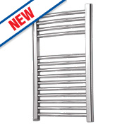 Flomasta Curved Electric Towel Radiator Chrome 700 x 400mm 171W 583Btu