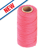 Ragni Hi-Vis Nylon Brick Line Pink 76m