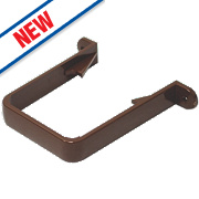 FloPlast RCS1 Square Downpipe Clips Brown 65mm Pack of 10