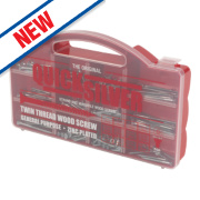 Quicksilver Woodscrews Handy Pack BZP 500Pieces