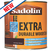 Sadolin Extra Durable Exterior Woodstain Translucent Semi-Gloss Jacobean Walnut 1Ltr