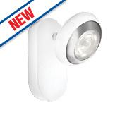 Philips myLiving Sepia LED Wall Spotlight Matt Chrome 4W 220-240V