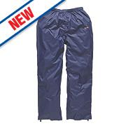 """Scruffs Pac-Away Trousers Waterproof Navy 34"""" W """" L"""