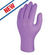 Skytec Iris Nitrile Powder-Free Disposable Gloves Purple Large Pk100