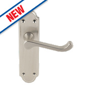 Jedo Sherborne Door Handle Pack Satin Nickel