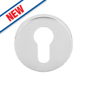 Eurospec Euro Profile Escutcheons Polished Stainless Steel 54mm Pack of 2