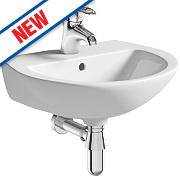 Grove Wall-Hung Cloakroom Basin 1 Tap Hole 450mm