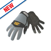 Cat Neoprene Comfort Fit Gloves Grey Large