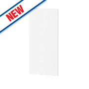 Gloss White Slab Kitchen Add-On Wall Panel 355 x 18 x 776mm