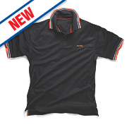 "Scruffs Active Polo Shirt Black X Large 46-48"" Chest"