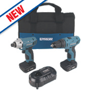 Erbauer ERP613KIT 10.8V 4.0Ah Cordless Twin Pk Drill Driver & Impact Driver