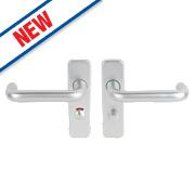 Smith & Locke Excell WC Door Handle Set Pair Satin Aluminium