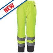 "Helly Hansen Alta Hi-Vis Trousers Yellow Large 36-38"" W 33"" L"