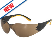 Cat Track Rimless Brown Lens Safety Specs