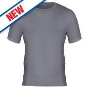 "Workforce WFU2400 Short Sleeve Thermal T-Shirt Baselayer Grey Medium 33-35"""