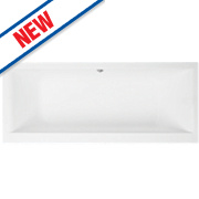 Supercast Twin-Ended Bath Acrylic No Tap Holes 1700mm