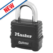Master Lock Zinc Die-Cast Construction Combination Padlock Black 57mm