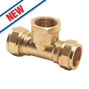 Pegler Prestex PX54 Compression Tee with Female Branch 15mm x 15mm x ½""