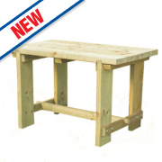 Forest Refectory Garden Table 1200 x 700 x 750mm