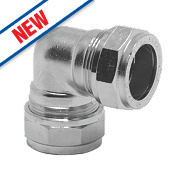 Pegler Prestex PX44CP Chrome-Plated Compression Elbow 22mm