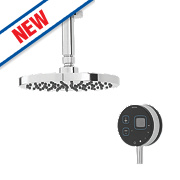 Bristan Artisan Evo HP Ceiling Fed Thermostatic Mixer Shower with Digital Control Black