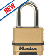 Master Lock Die-Cast Zinc 4-Digit Combination Padlock Brass 56mm