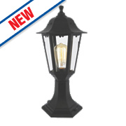 Zinc Bianca 60W Black Outdoor Short Post Lantern