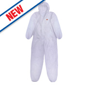 3M Type 5/6 Disposable Coverall White Large / X Large 42-45