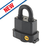 Yale Weatherproof Open Shackle Padlock Steel 53mm
