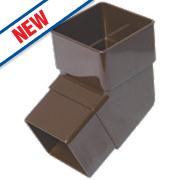 FloPlast RBS2 112.5° Square Offset Bend Brown 65mm