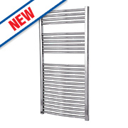 Flomasta Flat Towel Radiator Chrome 1200 x 600mm 419W 1430Btu