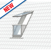 Velux Cabrio Single Balcony & Tile Flashing Clear 940 x 2520mm