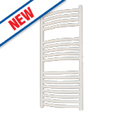 Flomasta Curved Ladder Towel Radiator White 900 x 450mm 354W 1208Btu