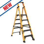 DeWalt Platform Step Ladder Fibreglass 5 Treads 1.17m