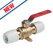 Hep2O Push-Fit Plated Brass Ball Valve 22mm