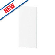 Gloss White Handleless Kitchen Add-On Wall Panel 355 x 18 x 776mm