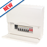 BG 10-Way High Integrity RCBO Consumer Unit with 6 RCBOs