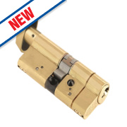 Yale AS Platinum Euro Thumbturn Cylinder 35-35 (70mm) Polished Brass