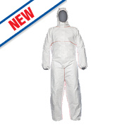 "Proshield Flame Retardant Disposable Coverall White Large 42"" Chest 31"" L"