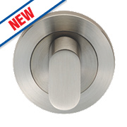 Eurospec Contemporary Bathroom Thumbturn/Release Satin Stainless Steel 52mm