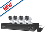 Swann SWDVK-841004F DVR8-4100 8 Channel 960H Digital Video Recorder with 4 Cameras