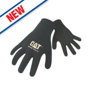 Cat 17408 Heavy Knit General Handling Gloves Black Large