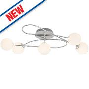 Mirella 5-Light Round LED Pendant Light Chrome 15W